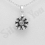 PANDANTIVE - Pandantiv argint floare cu mesaj - AR185
