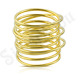 Cadouri Femei 1-8 Martie - Inel inox auriu spirala - ST130