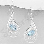 - Cercei argint lacrima cu topaz bleu - AR305