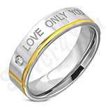 "INELE - Inel inox ""love only you"" - LR103"