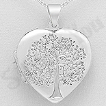Bijuterii Argint - Pandantiv argint inima casetuta - AS127