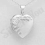 Bijuterii cu Mesaj - Pandantiv argint casetuta inima - AS139