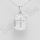 REDUCERI - Pandantiv argint casetuta cu cruce - AS144