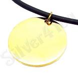Cadouri Femei - Lant silicon cu banut inox in culoarea aurului - LR421