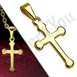 Pandantive crucifix - Cruce inox aurit - PK6024