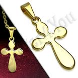 Pandantive crucifix - Cruce inox aurit - PK6028