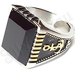Bijuterii Inox - Ghiul  inox in 2 culori cu zircon negru multifatetat si model ancora - LR325
