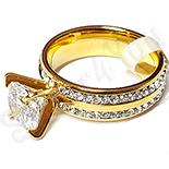 Bijuterii Inox - Inel logodna cu zirconii albe - Superb - LR349