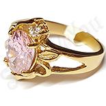 INELE - Inel inox aurit cu zircon roz - LR329