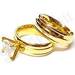 INELE ARGINT - Noutati! - Set verigheta si inel cu zirconii albe - BR6198A