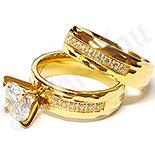 Set verigheta si inel inox cu zirconii albe - BestSeller - LR341A