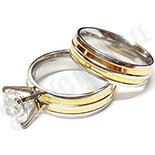 Cadouri Femei 1-8 Martie - Set verigheta si inel in 2 culori cu zircon - BR6060A
