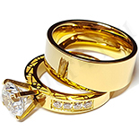 Cadouri de Craciun - Set verigheta si inel cu zirconii albe - BR6031A