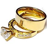 Set verigheta si inel cu zirconii albe - BR6031A