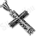 Pandantive crucifix - Pandantiv cruce cu model tribal - LR447