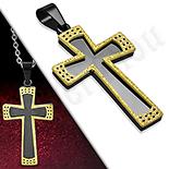 Pandantive crucifix - Cruce inox in 2 culori - LR409