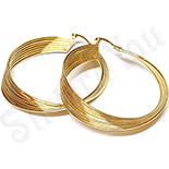 - Cercei inox aurit forma rasucita/ 6  cm - LR403