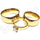 Set inox 2 verighete si inel logodna - BR604