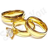 Bijuterii Inox - Set inox 2 verighete si inel logodna - BR613