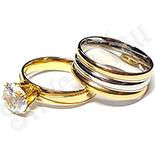 Set  verighete si inel logodna inox - BR707