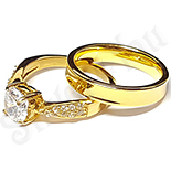 Inele De Logodna - Set  verighete si inel logodna inox - BR710