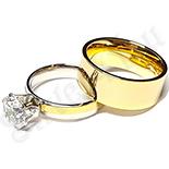 Cadouri Femei 1-8 Martie - Set  verighete si inel logodna inox - BR706