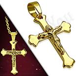 Bijuterii Inox - Pandantiv inox crucifix - LR473