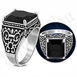 Bijuterii Inox - Ghiul inox cu zircon negru negru multifatetat si model - LR435