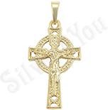 Bijuterii Inox - Pandantiv crucifix cu model - ZS303
