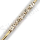 Bratara in culoarea aurului de 14K cu zirconii albe - ZS772
