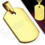 Bijuterii Inox - Pandantiv inox aurit placuta - BV130