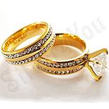 Cadouri Femei 1-8 Martie - Set verigheta si inel cu zirconiu alb - DN220