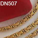 Bijuterii Inox - Set lant si bratara inox aurit - masiv/6 mm - DN507A