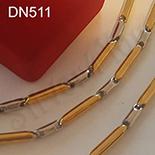 Bijuterii Inox - Set lant si bratara inox aurit 55 cm/5 mm - DN511
