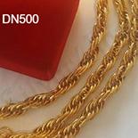 Bijuterii Inox - Set lant si bratara inox aurit - DN500