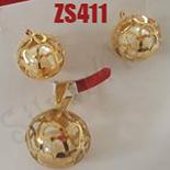Cercei inox aurit - ZS411
