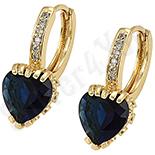 Cercei in culoarea aurului 14K zirconii albastre - ZS627