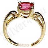 Inel in culoarea aurului 14K cu zircon in culoarea rubinului - ZS903