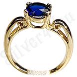 Inel in culoarea aurului 14K cu zircon albastru - ZS902