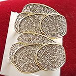CERCEI - Cercei in culoarea aurului 14K zirconii albe - ZS639