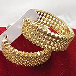 Cercei in culoarea aurului 14K zirconii albe - ZS646