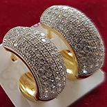 Bijuterii Inox - Cercei in culoarea aurului 14K zirconii albe - ZS853