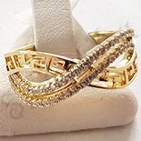 Inel in culoarea aurului 14K zirconii albe - ZS865