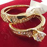 Set 2 inele  in culoarea aurului 14K zirconii albe - ZS872