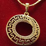 PANDANTIVE - Lant cu pandantiv in culoarea aurului 14K zirconii albe - ZS860A