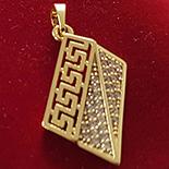 PANDANTIVE - Pandantiv in culoarea aurului 14K zirconii albe - ZS862