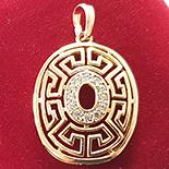 Cadouri Femei 1-8 Martie - Medalion in culoarea aurului 14K zirconii albe - ZS863