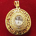 PANDANTIVE - Pandantiv in culoarea aurului 14K zirconii albe - ZS875