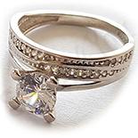 Bijuterii Argint - Inel argint zirconii albe - AG200