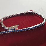 Bijuterii Argint - Bratara argint zirconii albastre model tenis - AG222